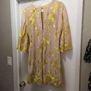 Nordstrom Dresses - Mod yellow and nude mini dress